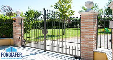 Cancelli monoblocco in ferro battuto a Monza Brianza, Lecco e Sondrio