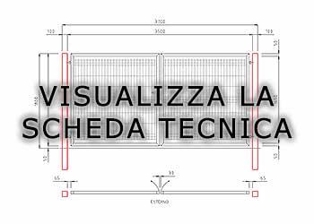 Dimensioni Cancello A Due Ante.Cancelli A Due Ante Light Pedonali